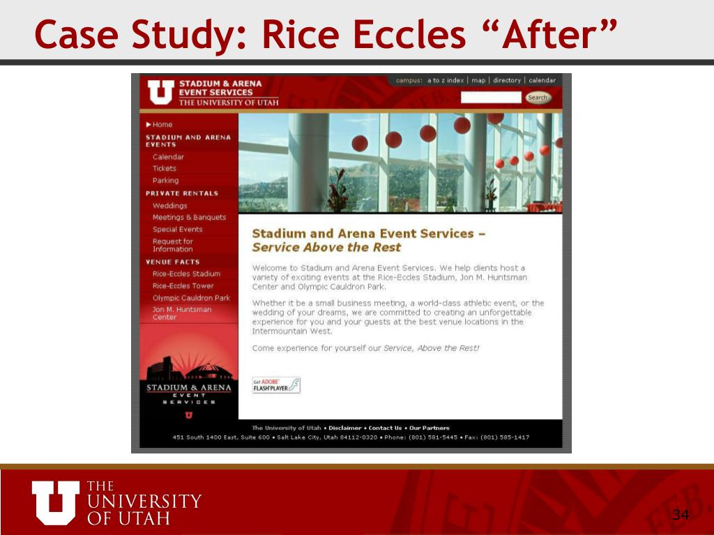 "Case Study: Rice Eccles ""After"""
