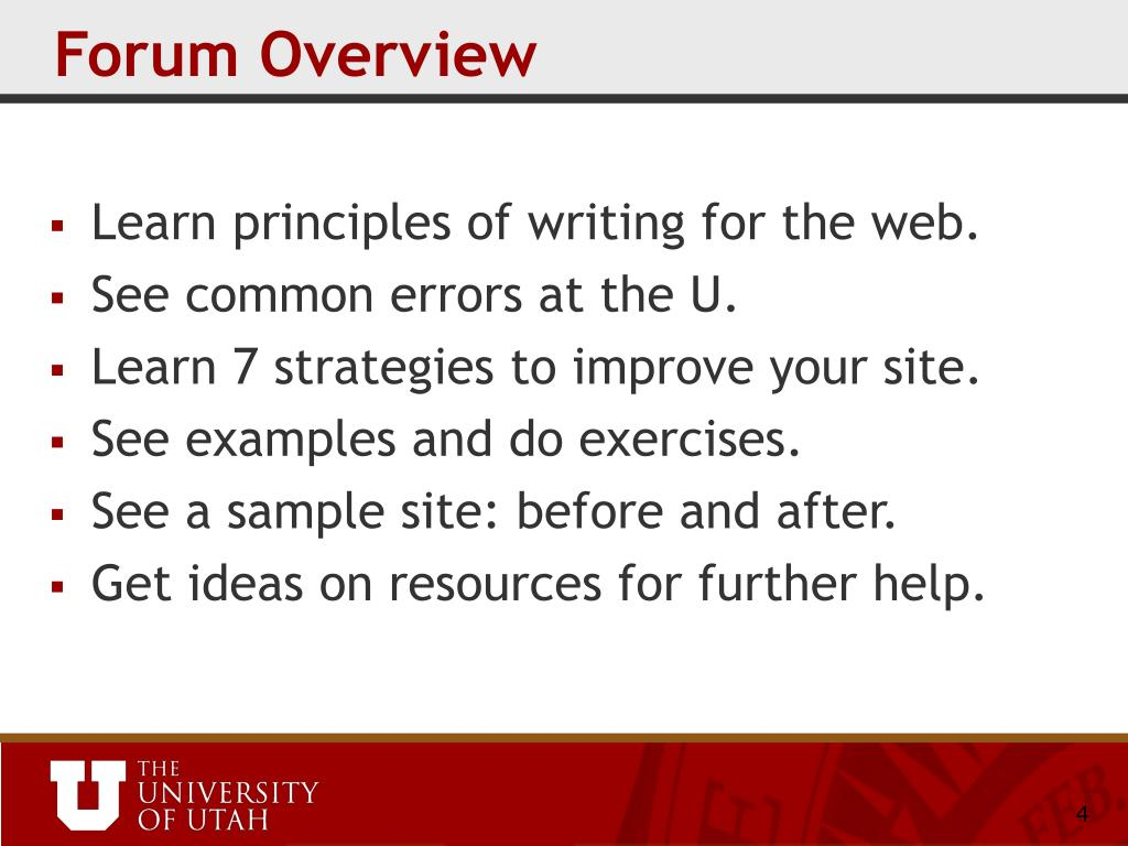 Forum Overview