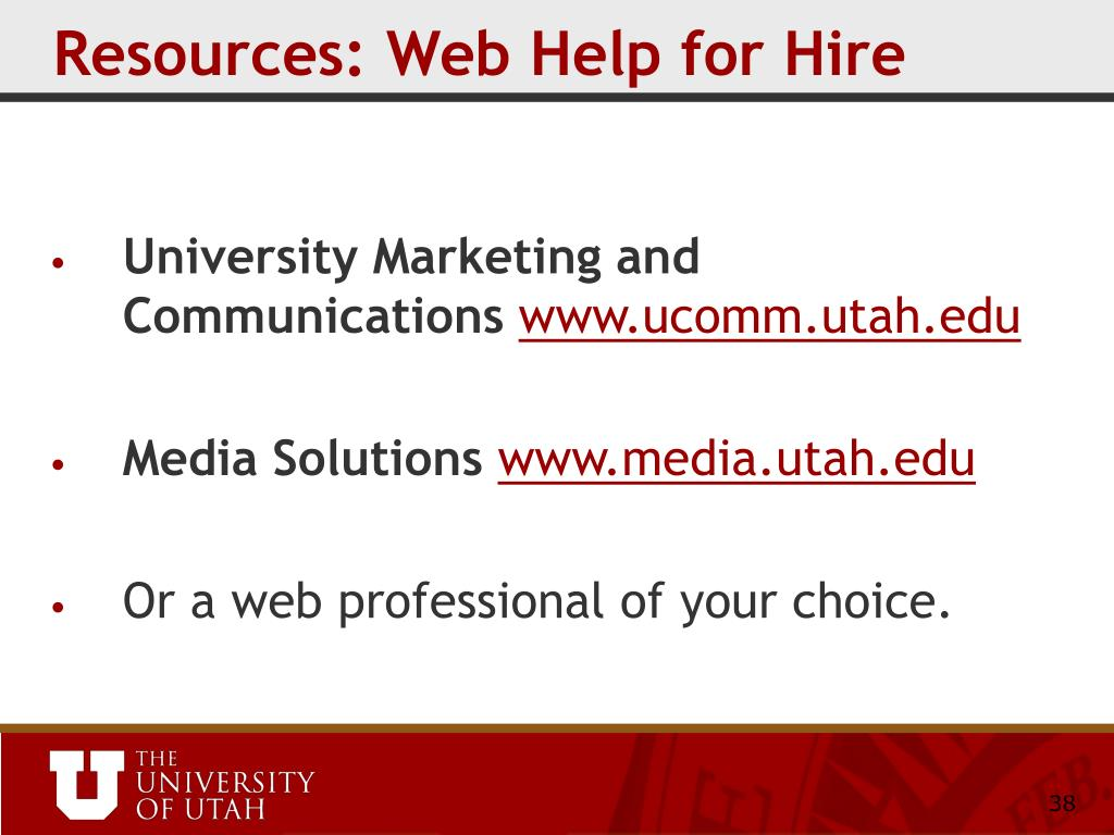 Resources: Web Help for Hire