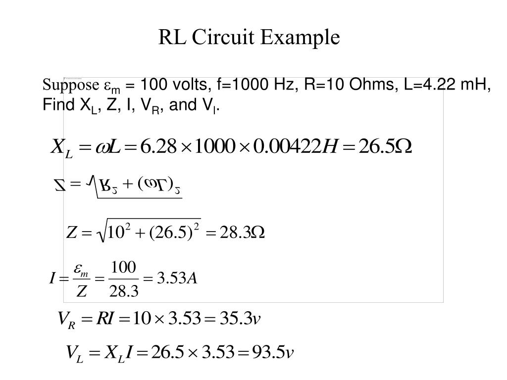 RL Circuit Example