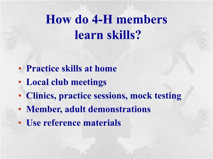How do 4-H members