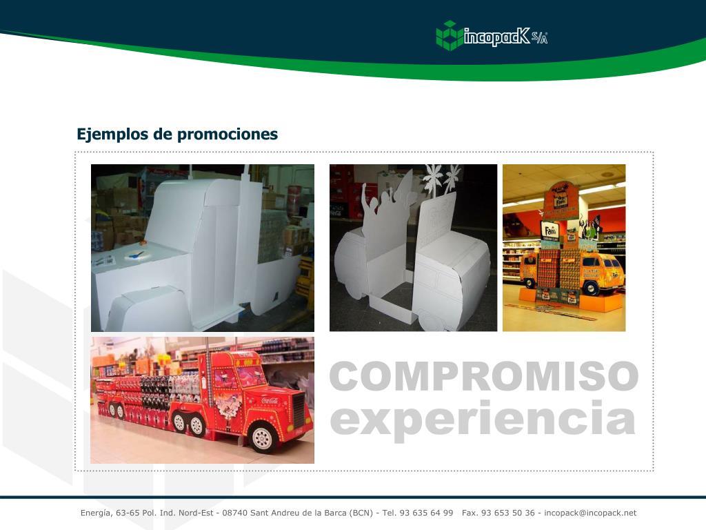 Ejemplos de promociones