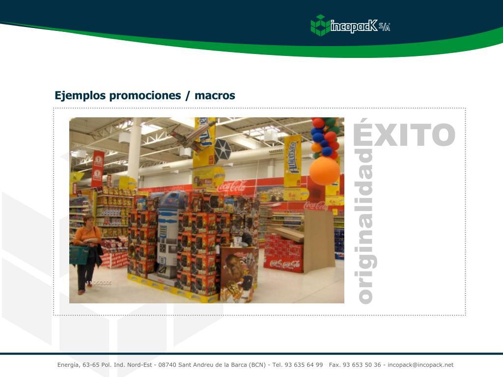 Ejemplos promociones / macros