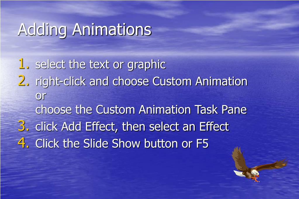 Adding Animations