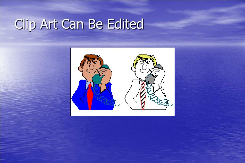 Clip Art Can Be Edited