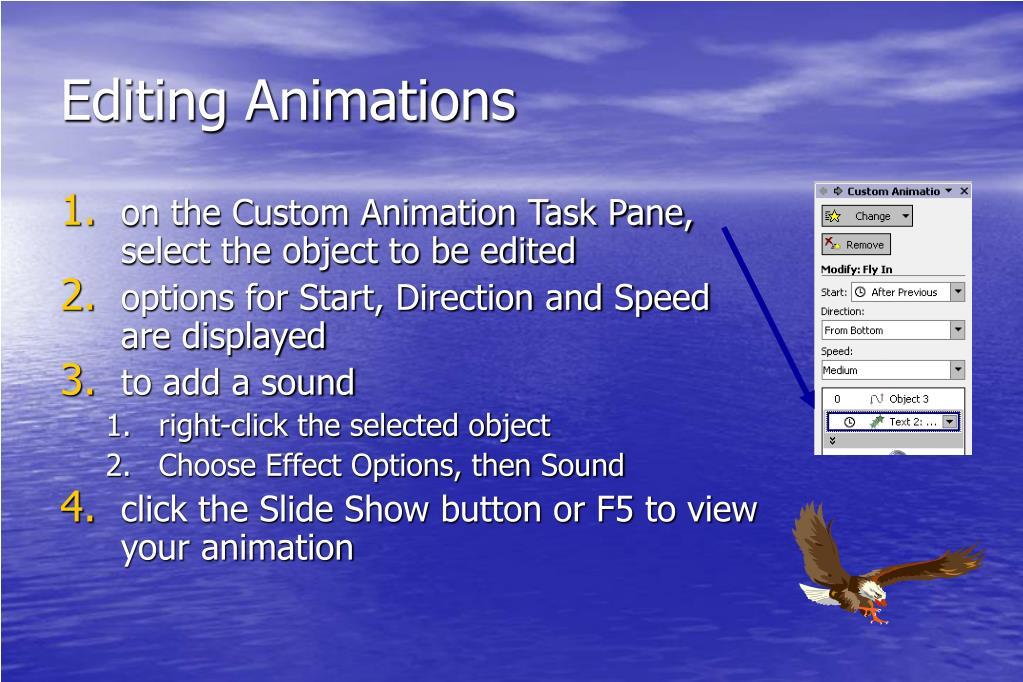 Editing Animations