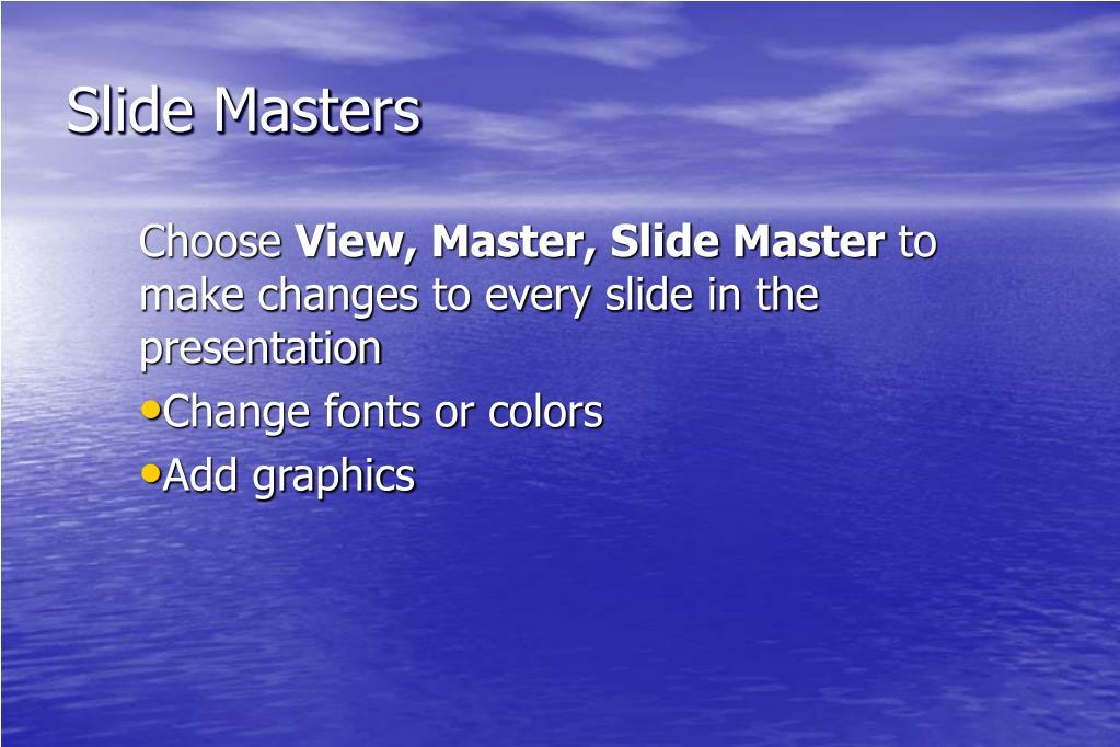 Slide Masters