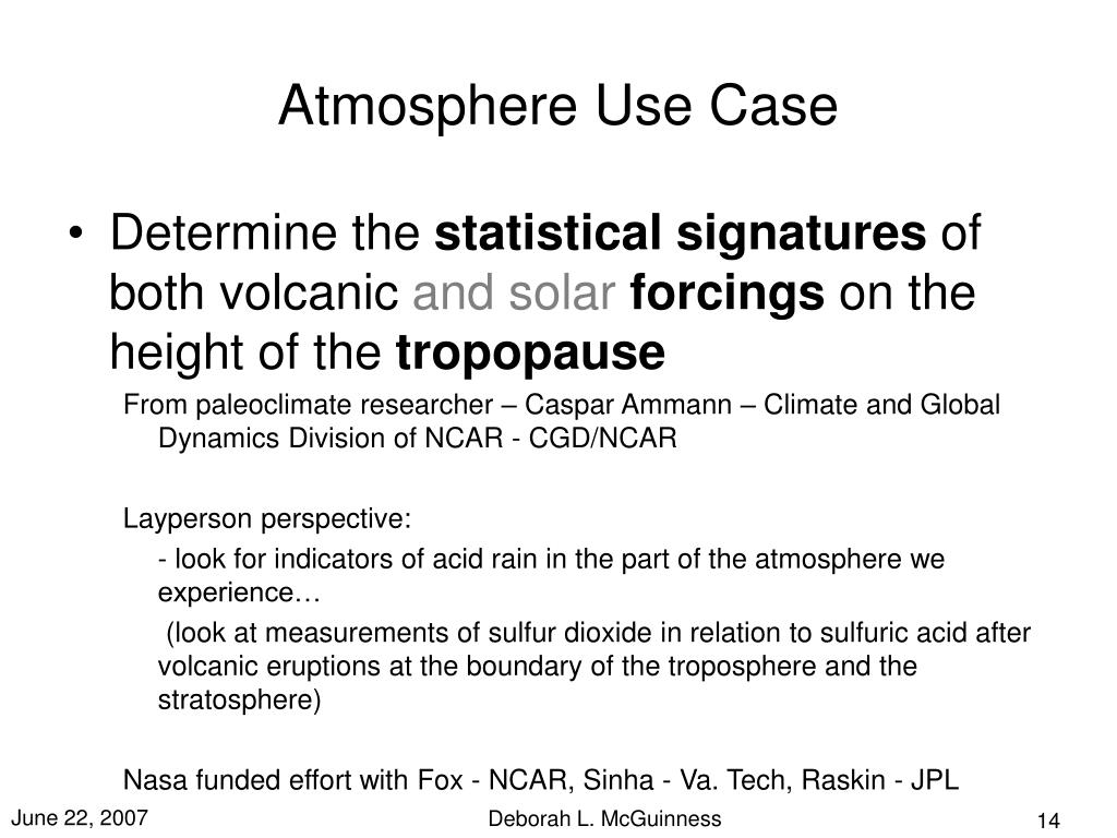 Atmosphere Use Case