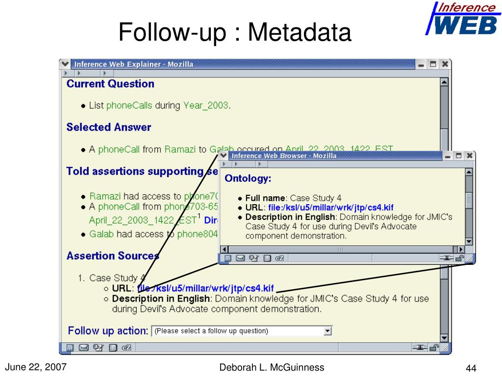 Follow-up : Metadata