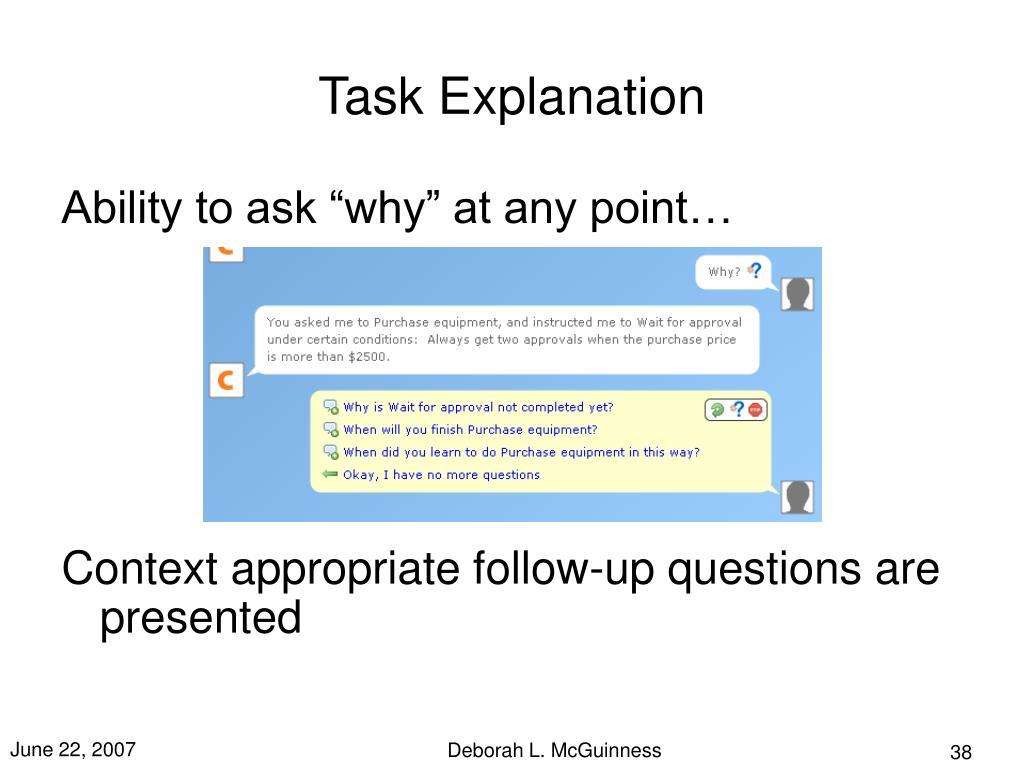 Task Explanation