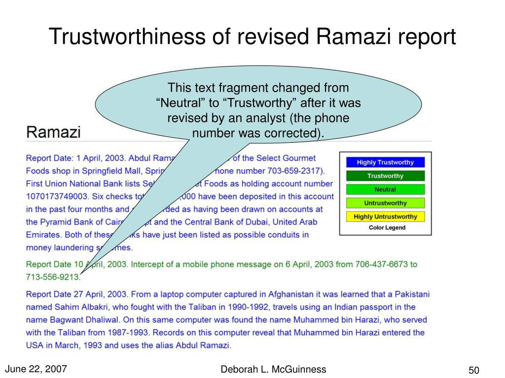 Trustworthiness of revised Ramazi report