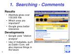 1 searching comments