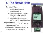 5 the mobile web
