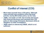 conflict of interest coi