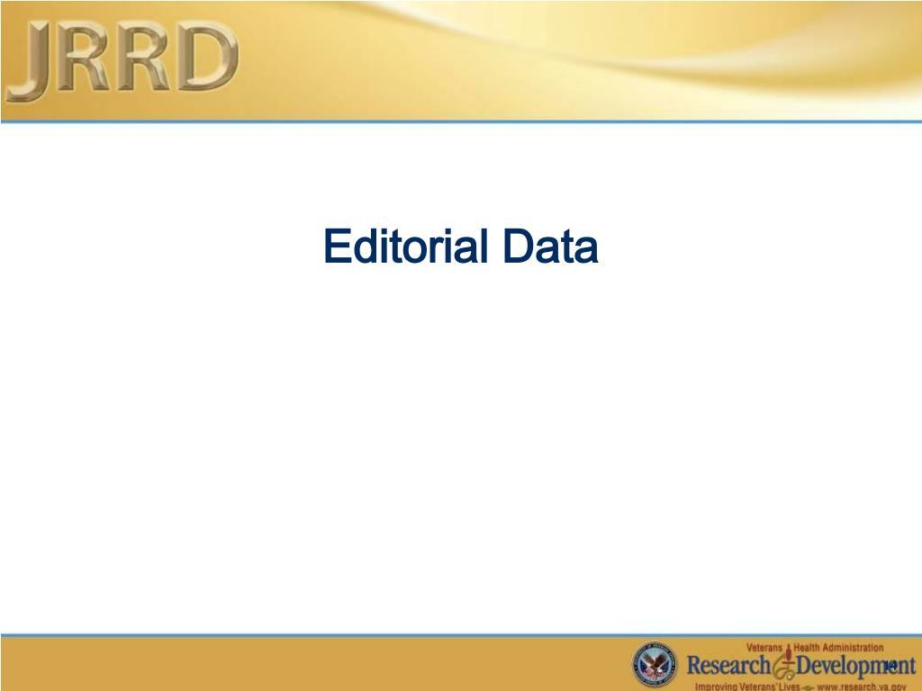 Editorial Data