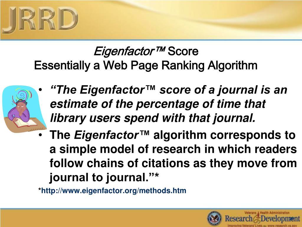 Eigenfactor™