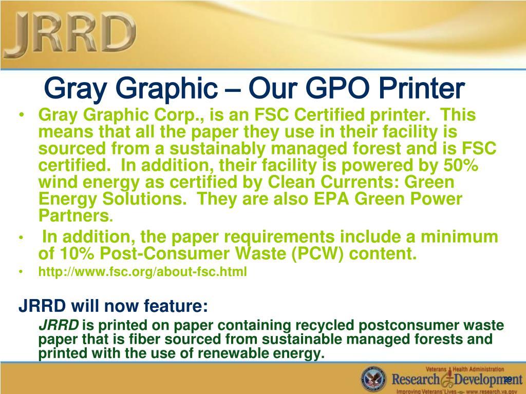 Gray Graphic – Our GPO Printer