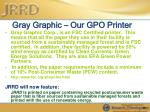 gray graphic our gpo printer