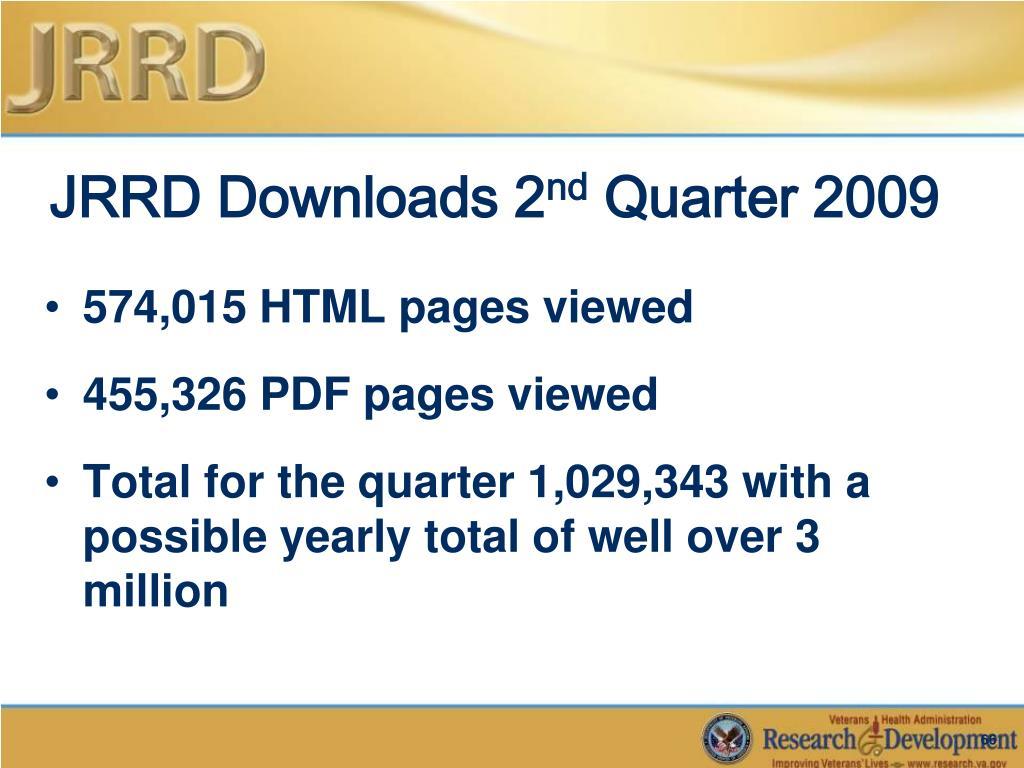 JRRD Downloads 2