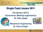 single topic issues 2011