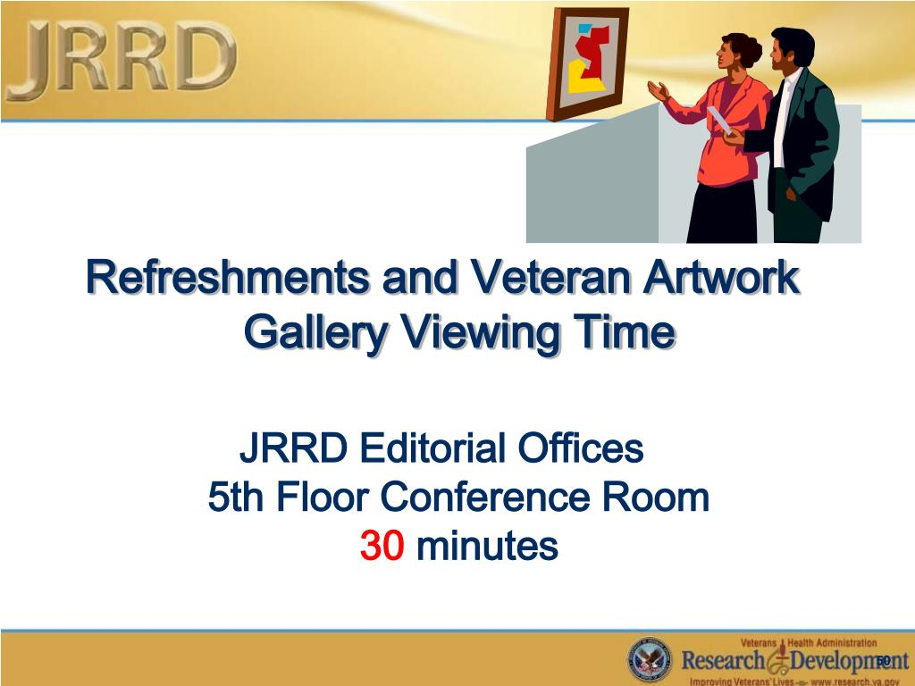 Refreshments and Veteran Artwork Gallery Viewing Time