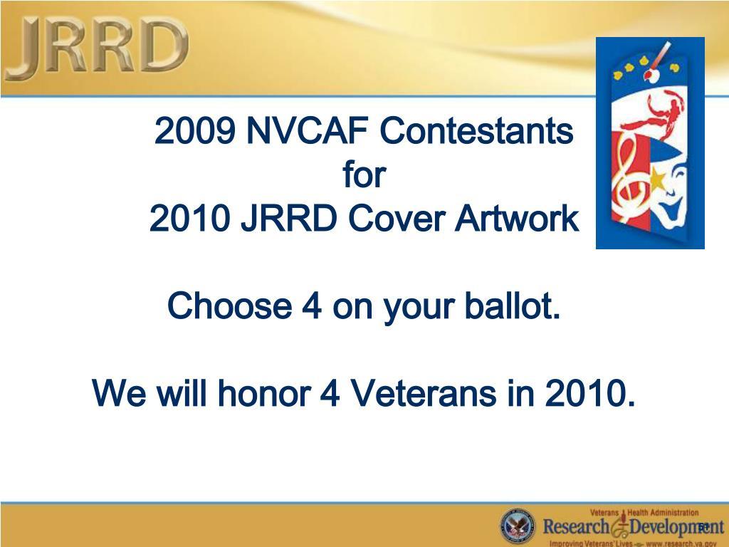 2009 NVCAF Contestants