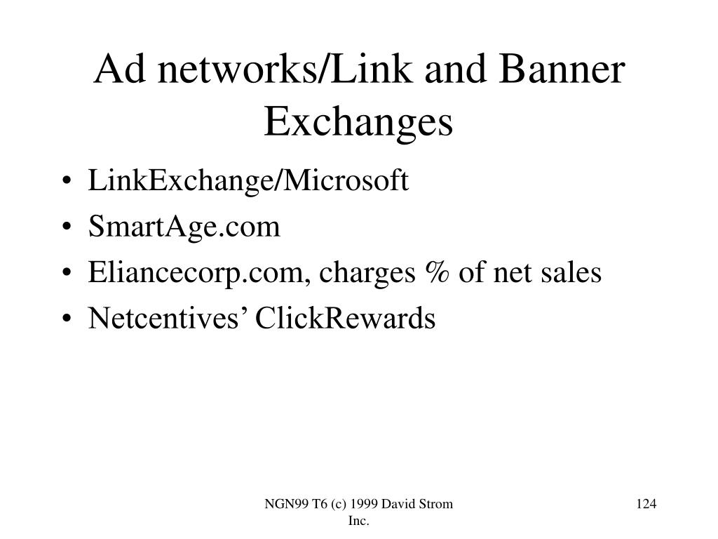 Ad networks/Link and Banner Exchanges