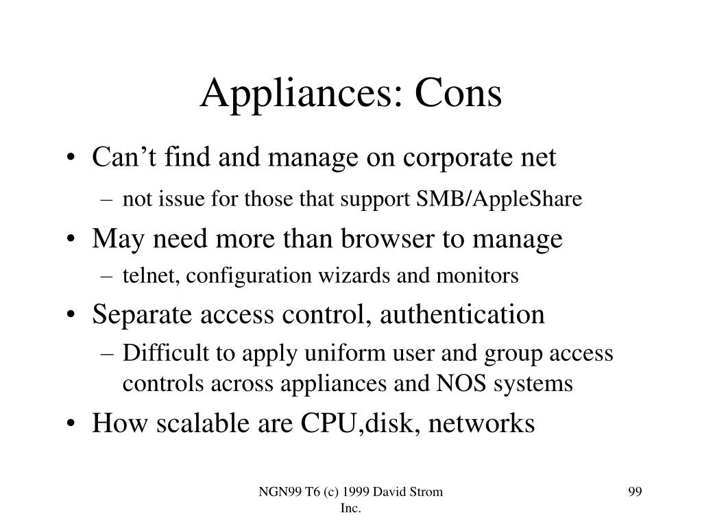 Appliances: Cons
