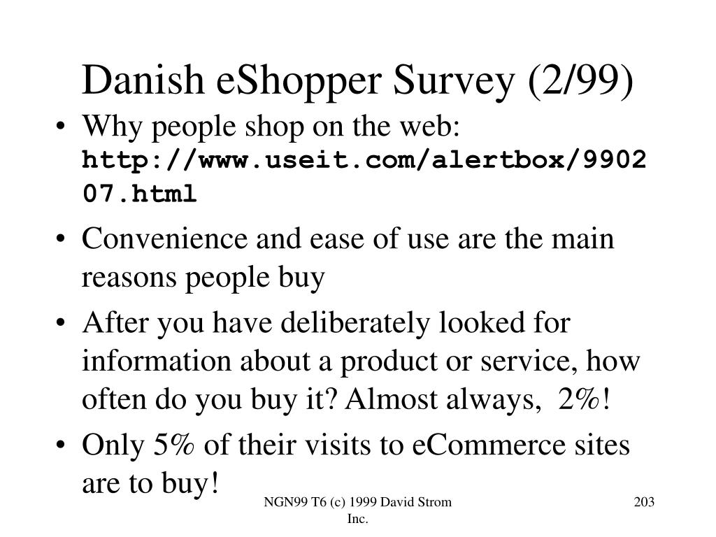 Danish eShopper Survey (2/99)