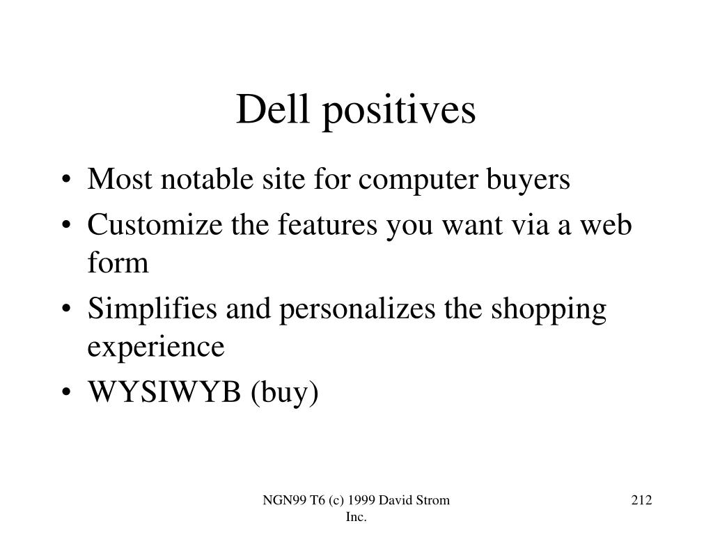 Dell positives