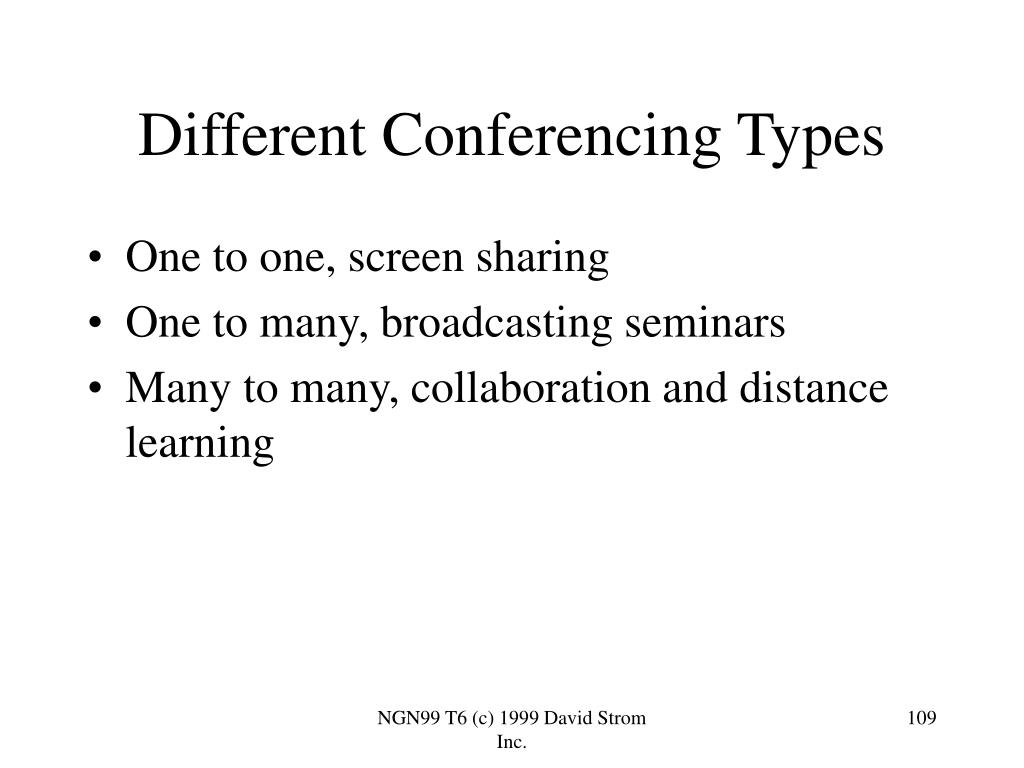 Different Conferencing Types