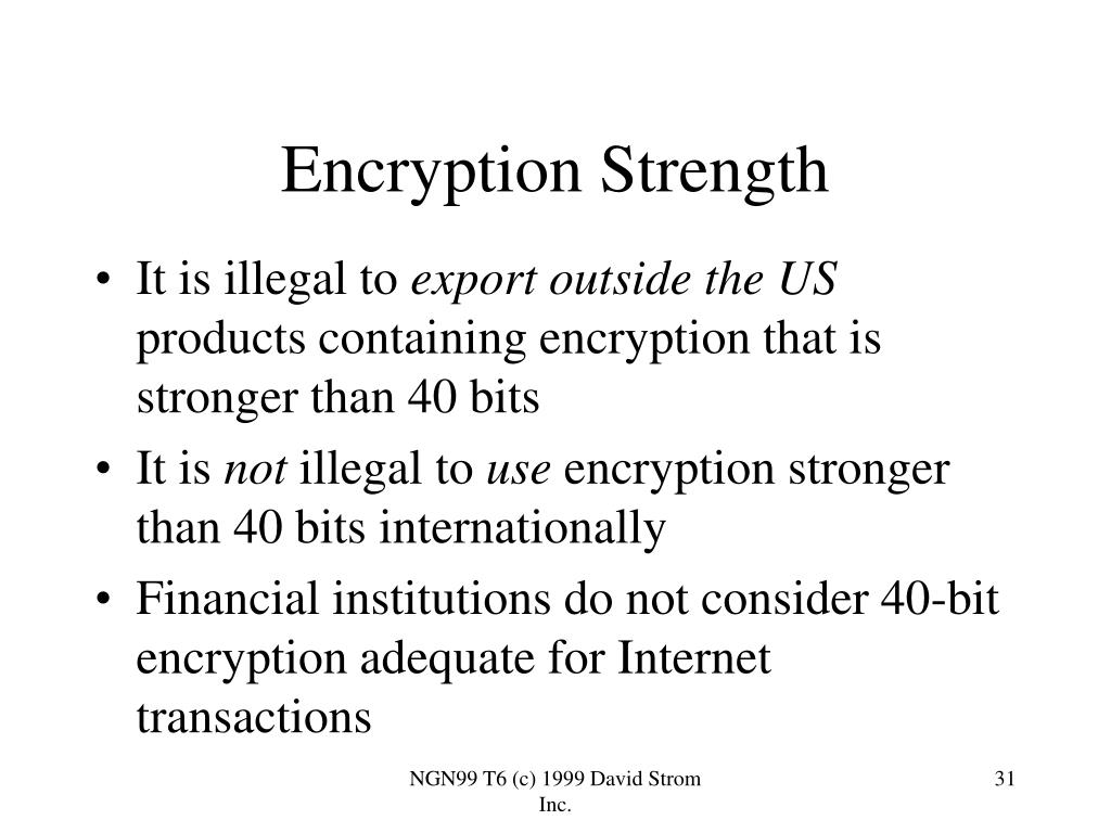 Encryption Strength