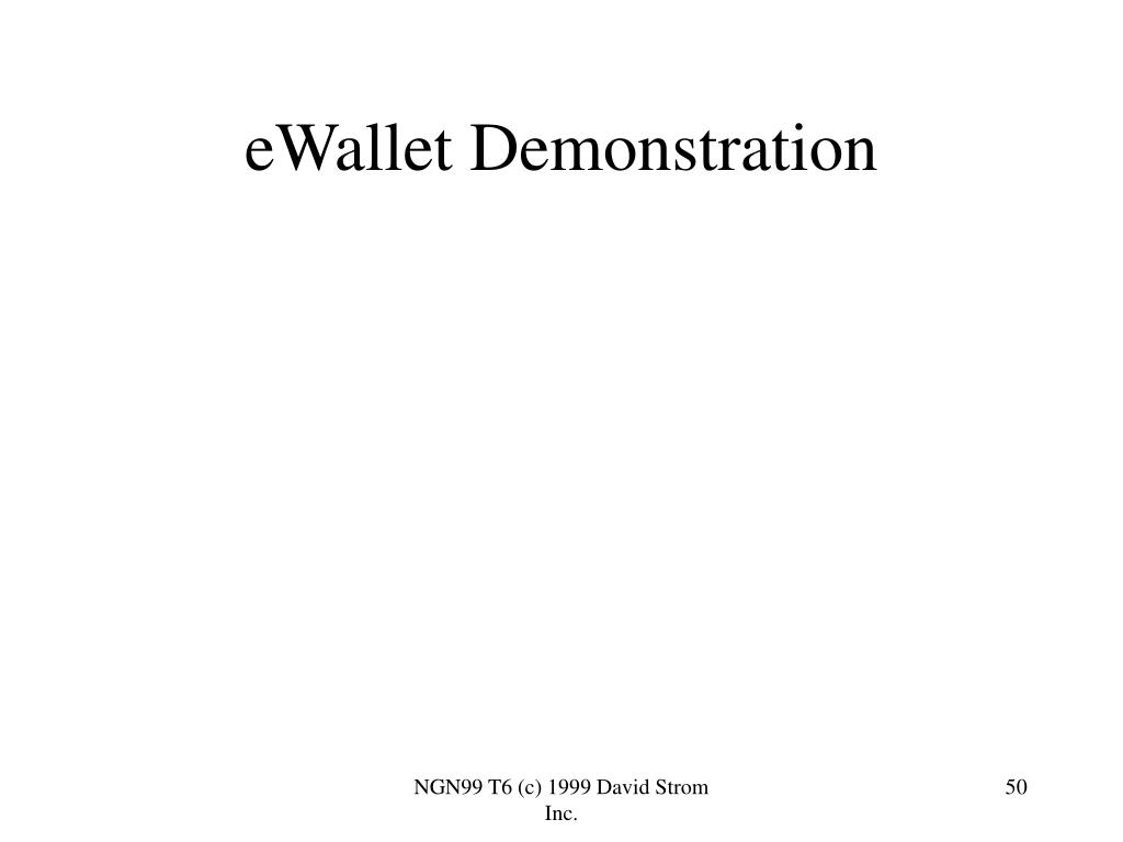 eWallet Demonstration