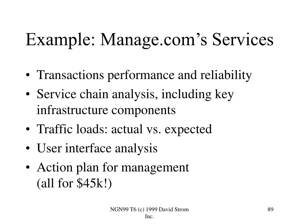 Example: Manage.com's Services