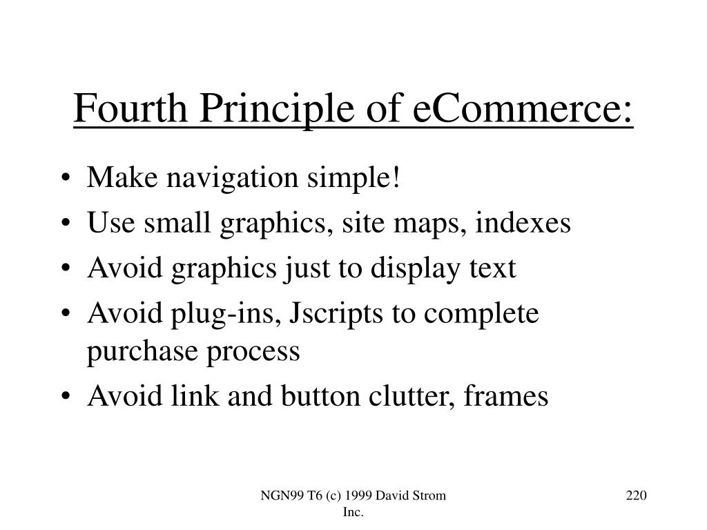 Fourth Principle of eCommerce:
