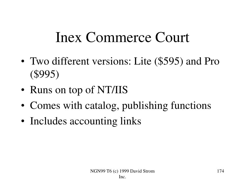 Inex Commerce Court