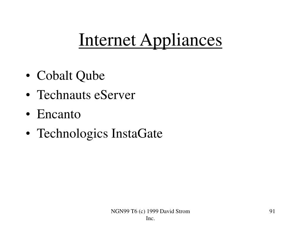 Internet Appliances