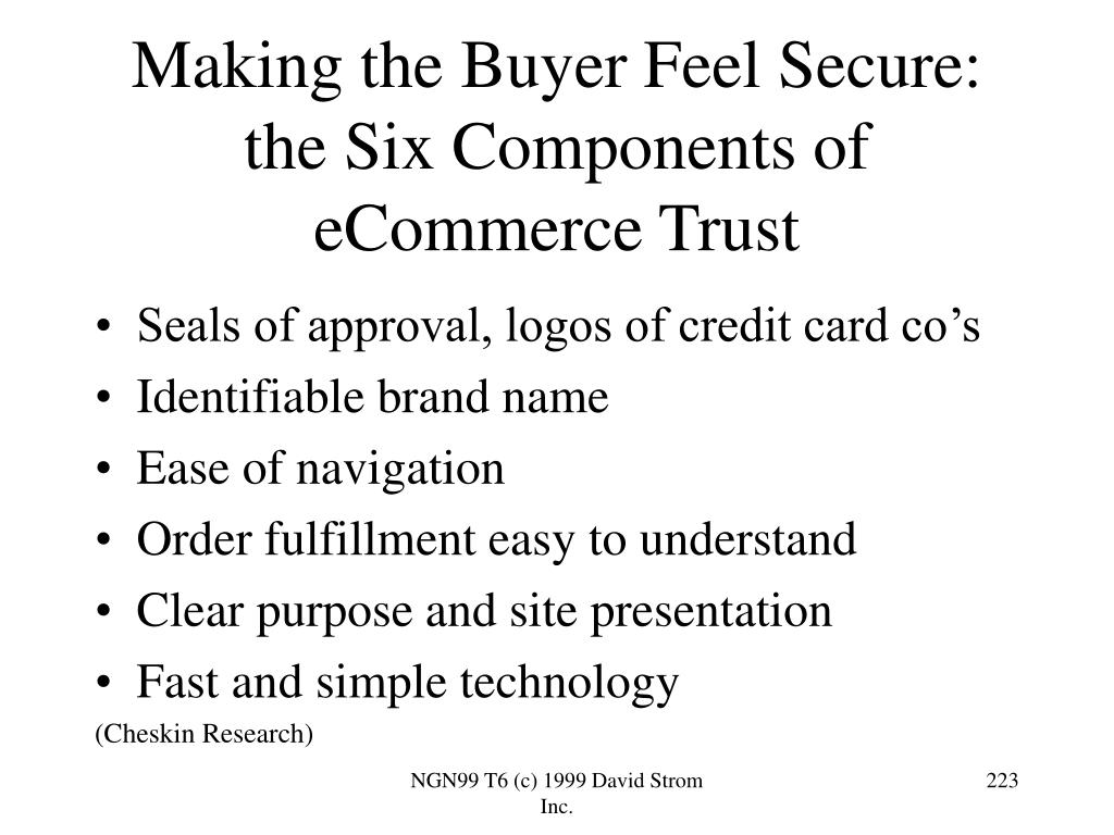 Making the Buyer Feel Secure: the Six Components of eCommerce Trust