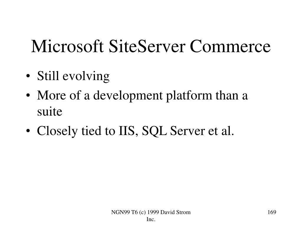 Microsoft SiteServer Commerce
