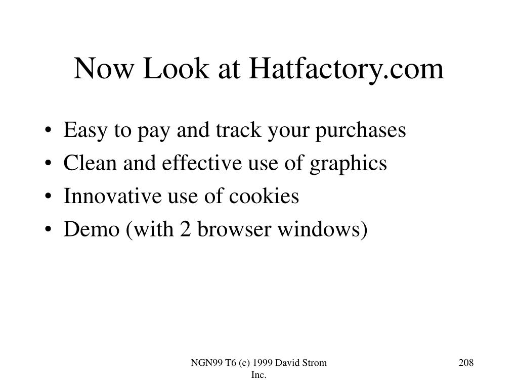 Now Look at Hatfactory.com