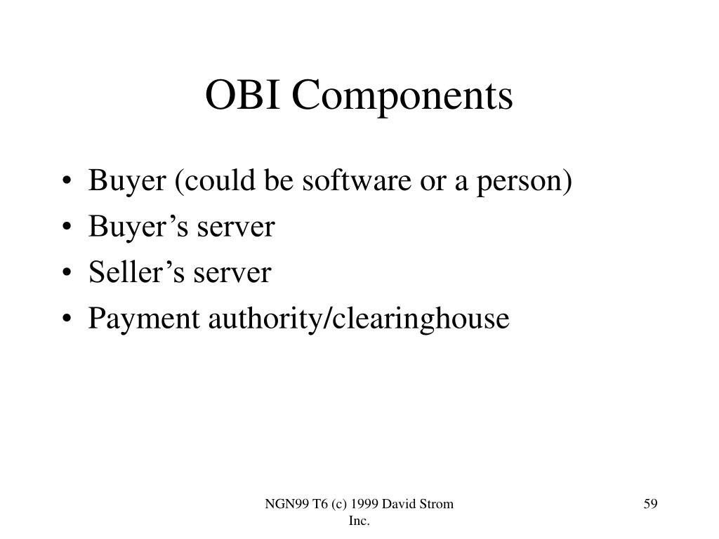 Buyer (could be software or a person)