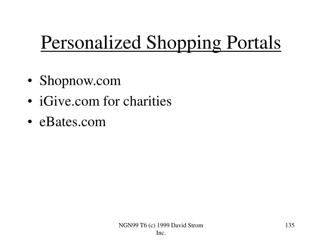 Personalized Shopping Portals