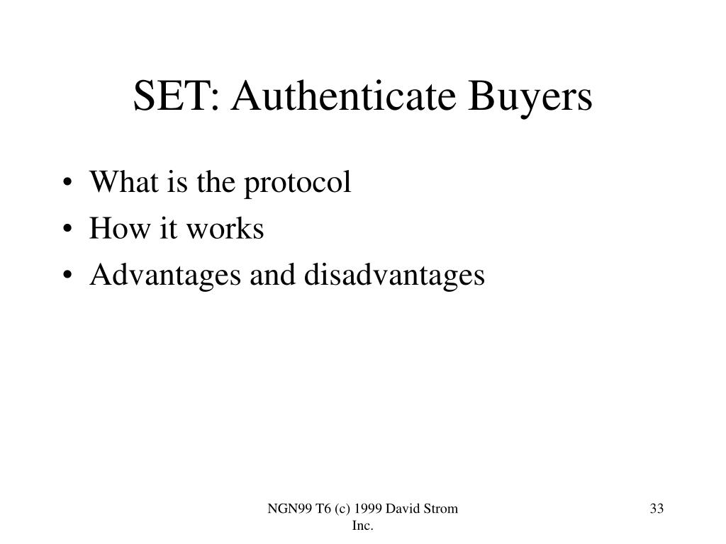 SET: Authenticate Buyers