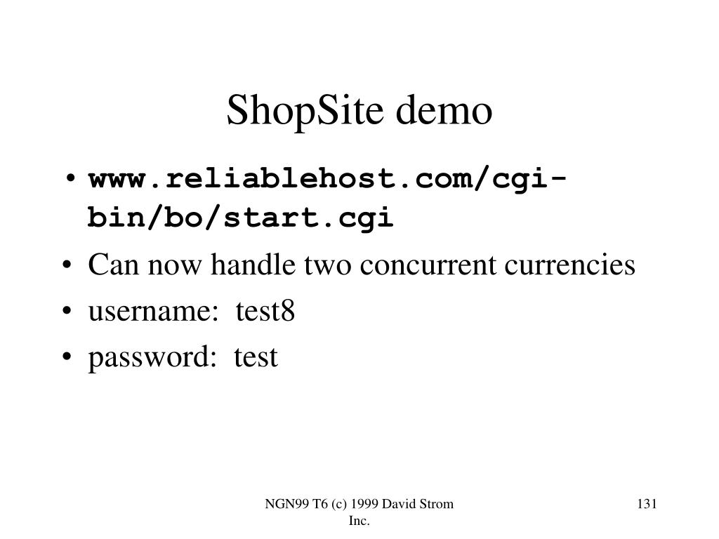 ShopSite demo