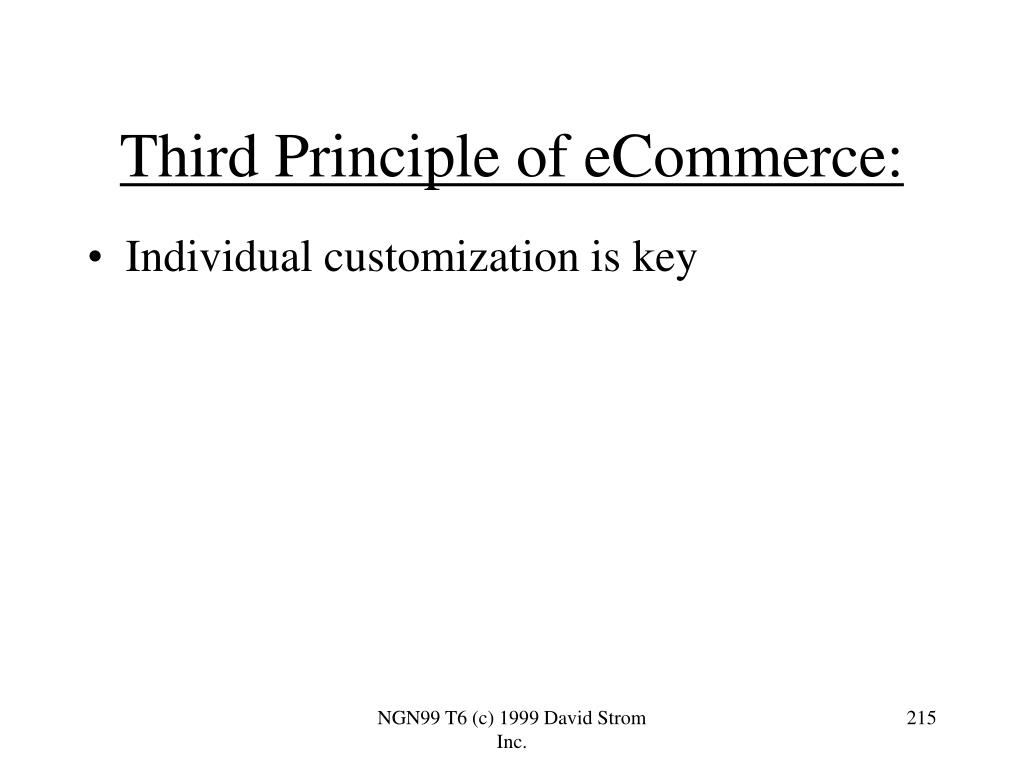 Third Principle of eCommerce: