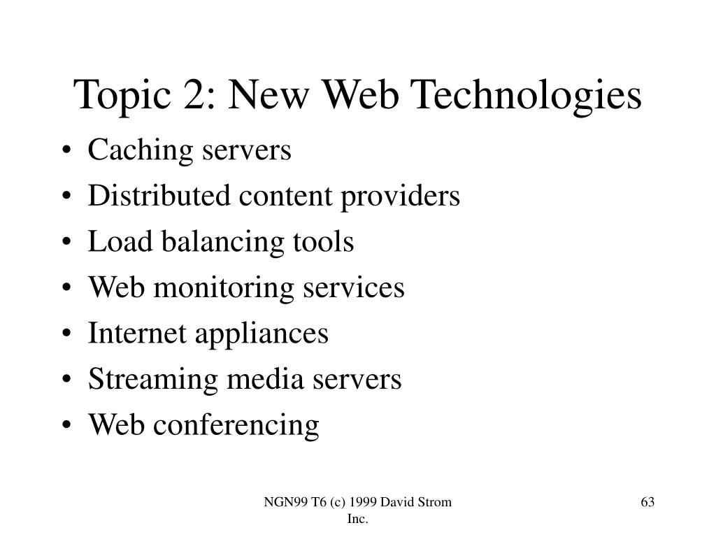 Topic 2: New Web Technologies