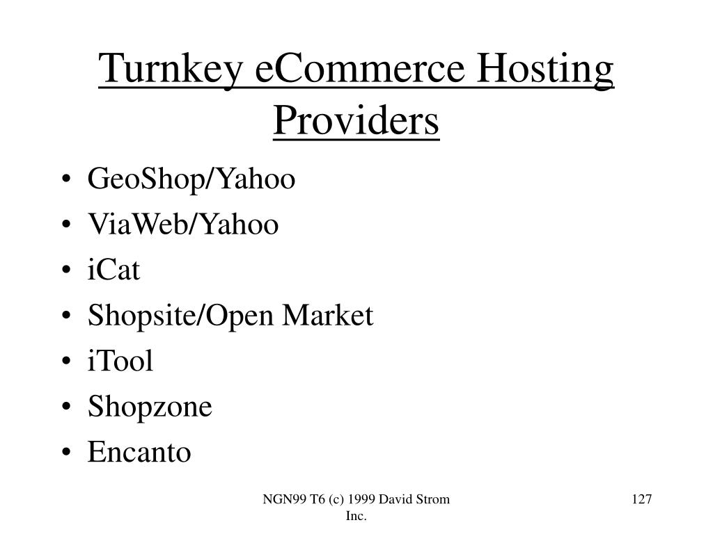 Turnkey eCommerce Hosting Providers