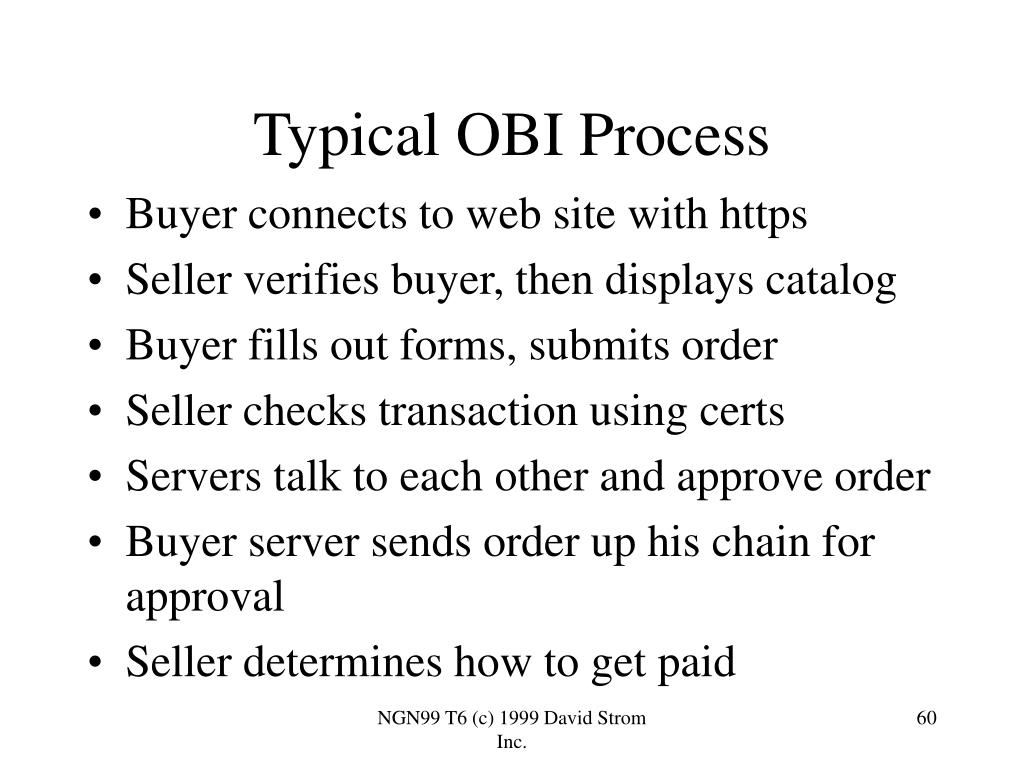 Typical OBI Process
