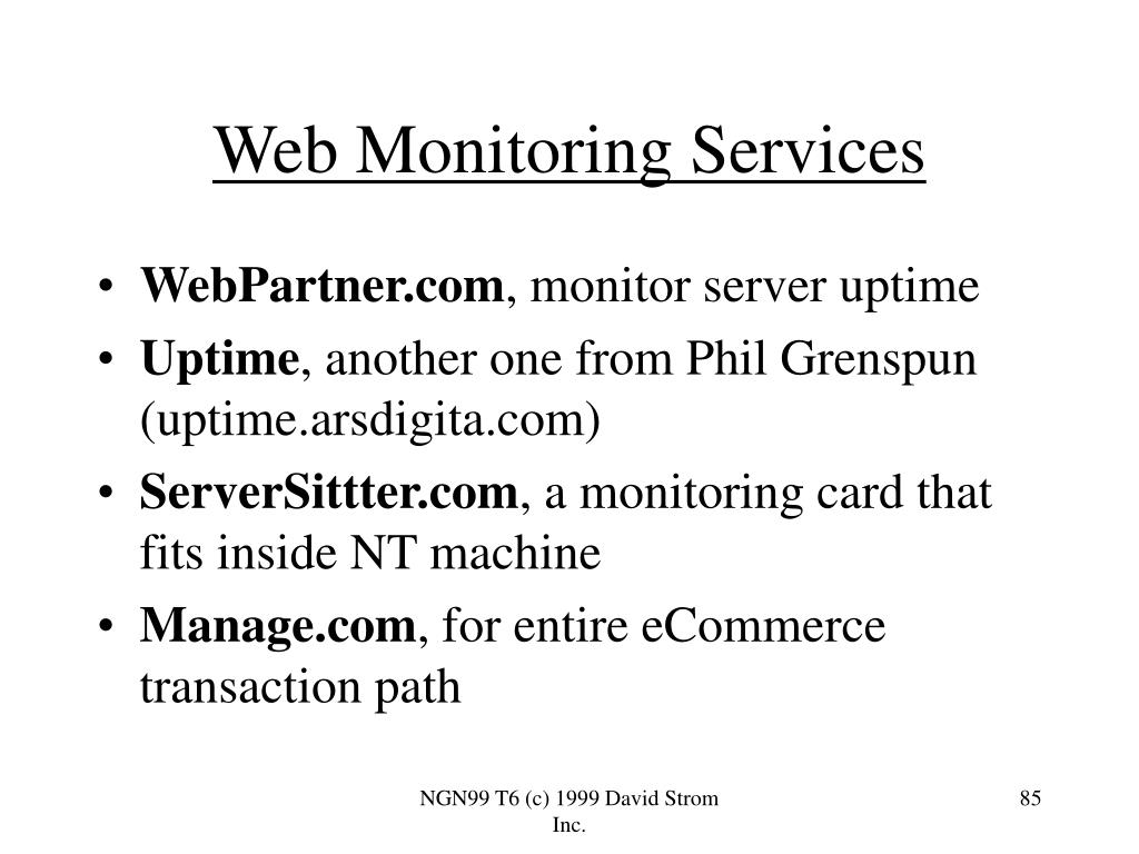 Web Monitoring Services