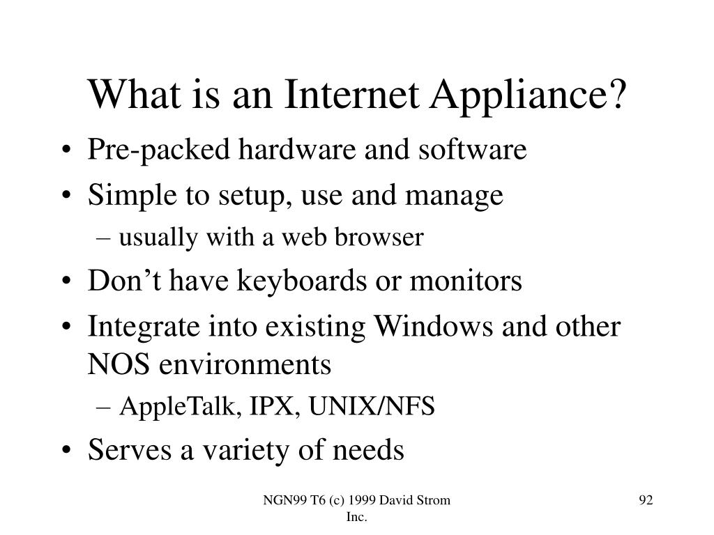 What is an Internet Appliance?